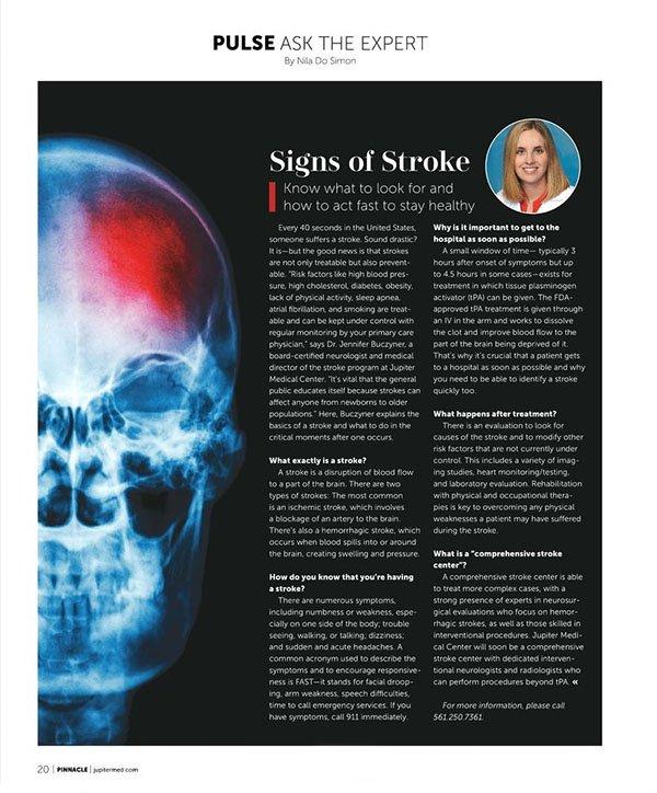 Dr. Jennifer Buczyner Featured in Pinnacle Magazine